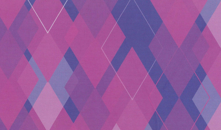 A imagem apresenta diversos triângulos em tons claros e escuros da cor roxa.