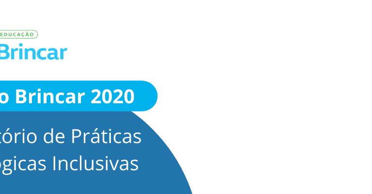 """Imagem de fundo branco. Nas laterais, vê-se círculos de diversos tamanhos nas cores azul, verde e amarelo. À esquerda no topo, vê-se o logo do Projeto Brincar e logo abaixo lê-se """"Projeto Brincar 2020, Laboratório de Práticas Pedagógicas Inclusivas"""""""