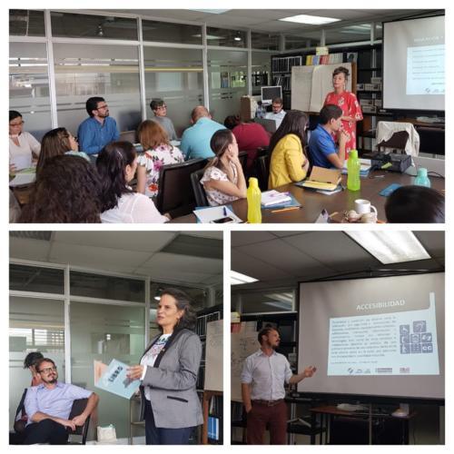 Ministra de Cultura e Juventude, Sylvie Durán, participou da oficina no Dia da Pessoa com Deficiência na Costa Rica (29 de maio)