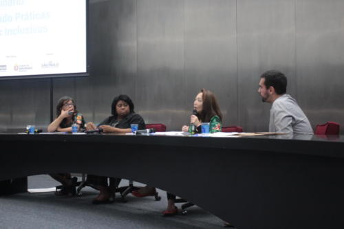 A abertura teve representantes das três instituições parceiras