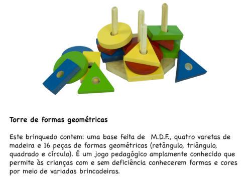 Torre de formas geométricas